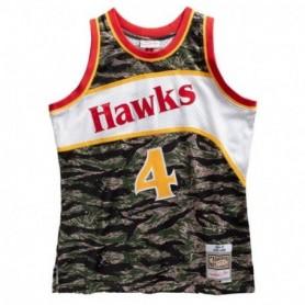 Mitchell & Ness Nba Tiger Camo Swingman Jersey Hawks 86 Spud Webb