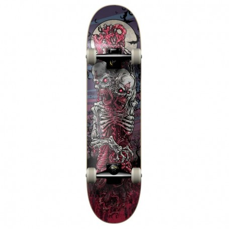 Kfd Young Gunz Two Head Zombie Complete Skateboard 7.75""