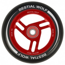 Bestial Wolf Race Wheel Red Core Black 100Mm