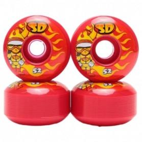 Speed Demons Characters Skateboarding Wheels 52Mm Hot Shots Set4