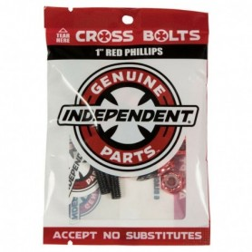 "Independent Cross Bolts 1"" Red Phillips"