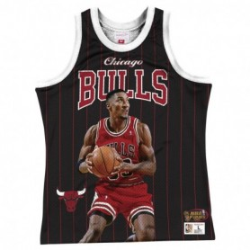 Mitchell & Ness Nba Sublimated Played Tank Bulls Scottie Pippen