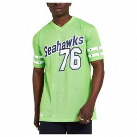 New Era Nfl Stripe Sleeve Oversized Tee Seatle Seahawks
