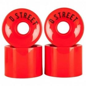 D Street Wheels 59 Cent 78A (4Pack) Red